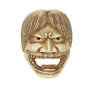 Netsuke in shape of Noh mask <br /> 18th or 19th century<br /> Japan<br /> CBL J 0193<br />
